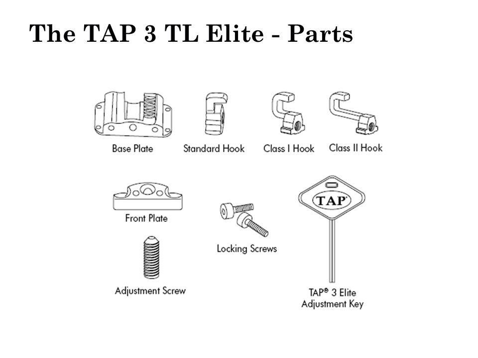The TAP 3 TL Elite - Parts Ball-headed HookSocket Set Screws Base Plate Hook Adjustment Screw