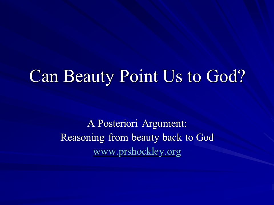 Can Beauty Point Us to God.