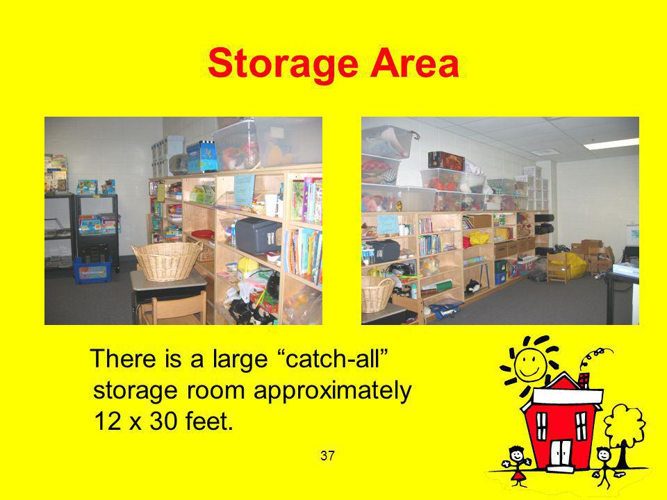 37 Storage Area There is a large catch-all storage room approximately 12 x 30 feet.