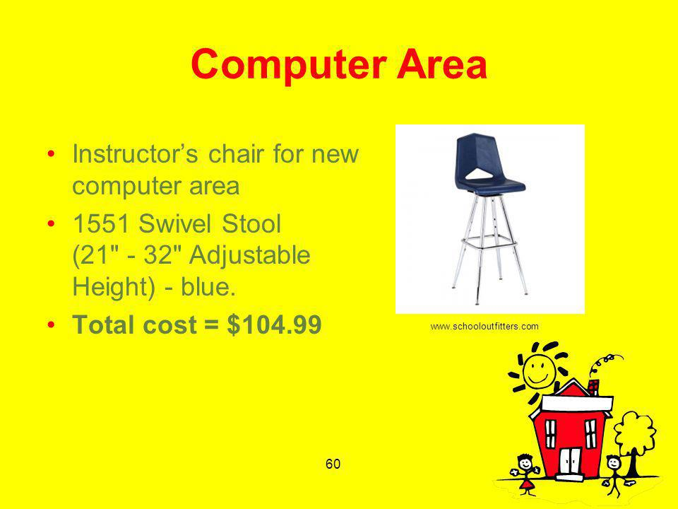 60 Computer Area Instructors chair for new computer area 1551 Swivel Stool (21
