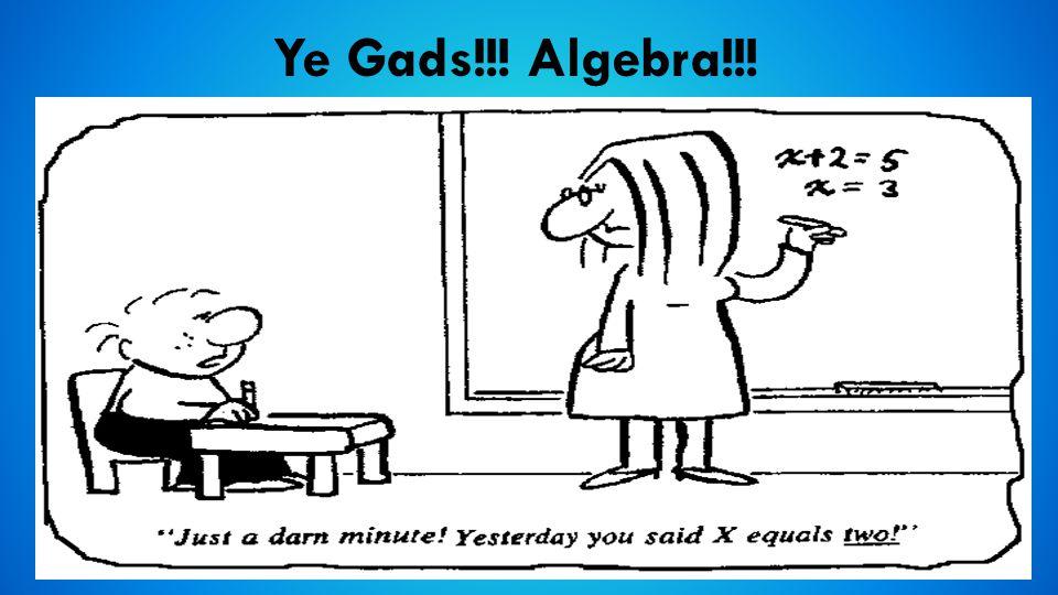 Ye Gads!!! Algebra!!!