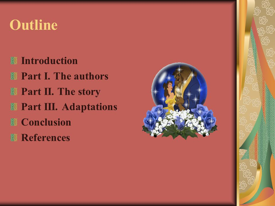 Outline Introduction Part I. The authors Part II. The story Part III. Adaptations Conclusion References