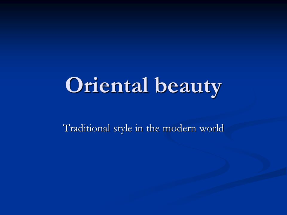 Oriental beauty Traditional style in the modern world