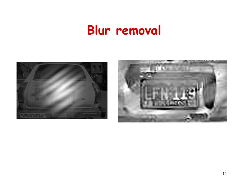 11 Blur removal