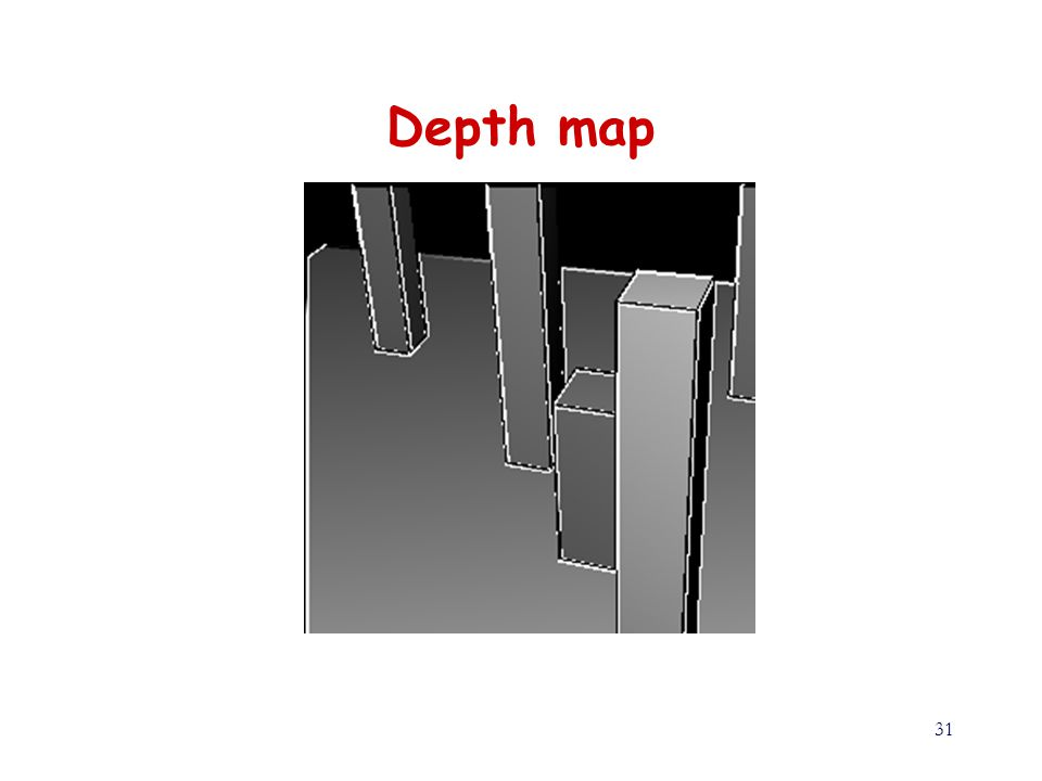 31 Depth map