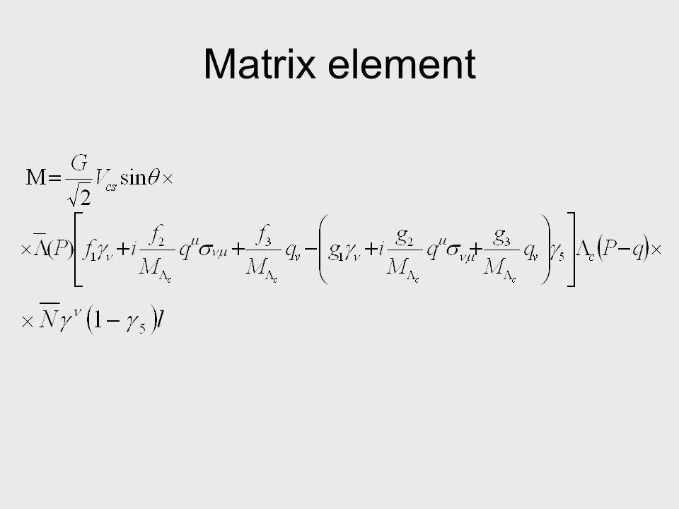 Matrix element