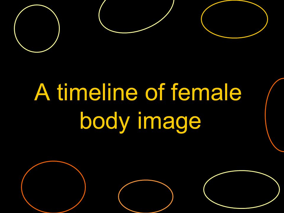 A timeline of female body image