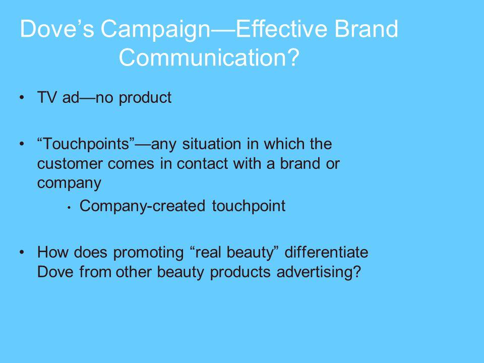 Doves CampaignEffective Brand Communication.