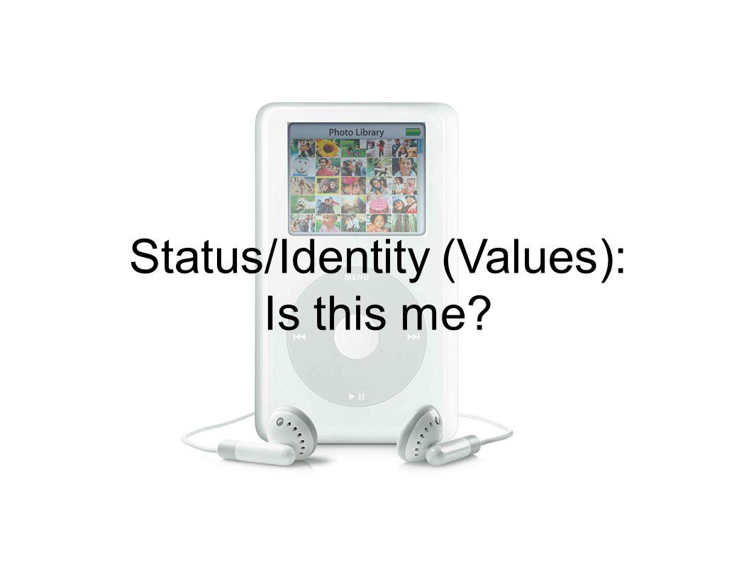 Status/Identity (Values): Is this me?