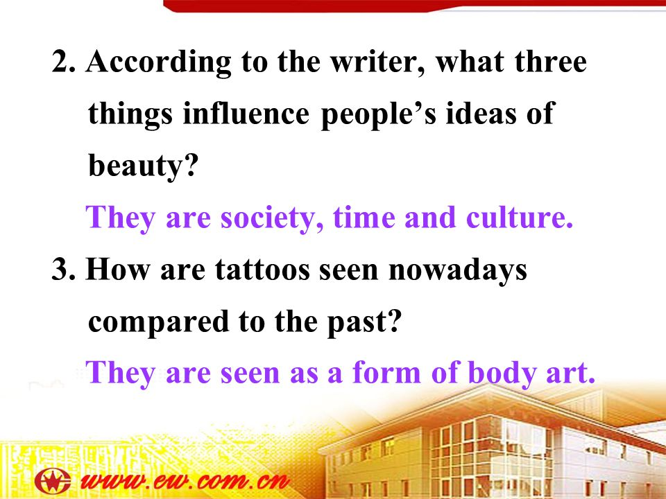 2. According to the writer, what three things influence peoples ideas of beauty.