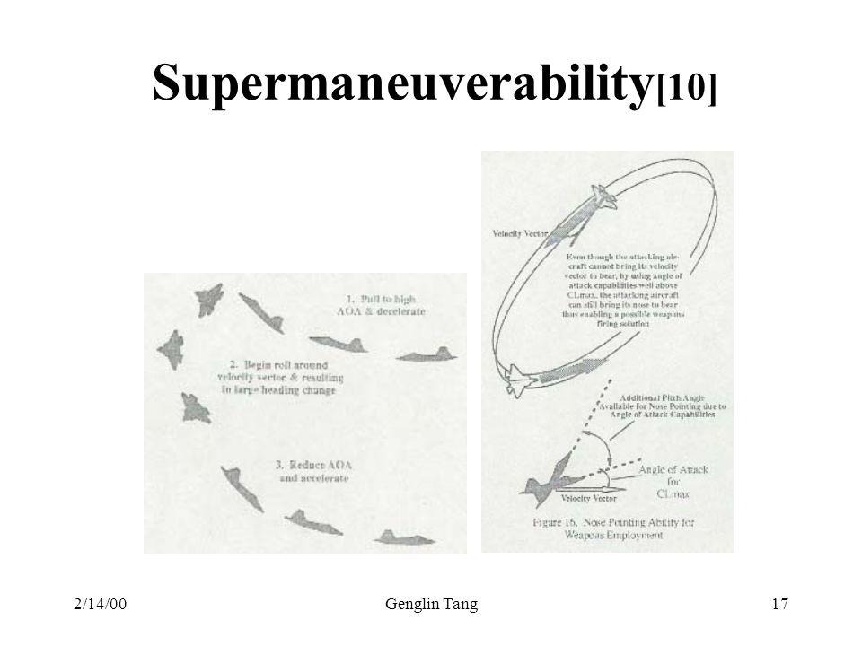 2/14/00Genglin Tang17 Supermaneuverability [10]