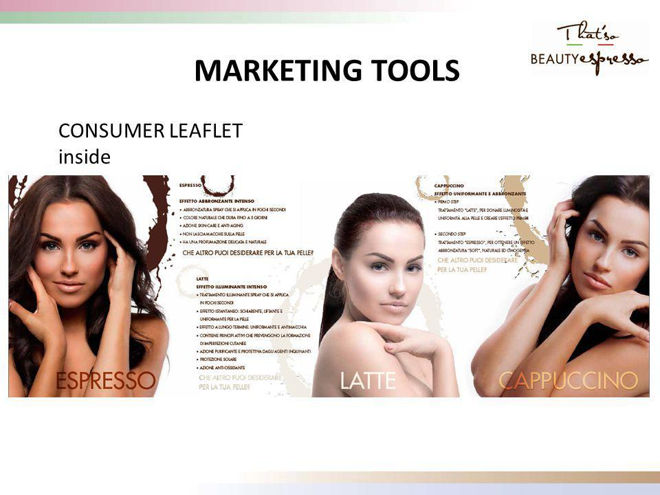 CONSUMER LEAFLET inside MARKETING TOOLS