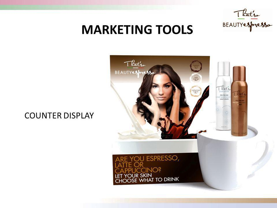 COUNTER DISPLAY MARKETING TOOLS
