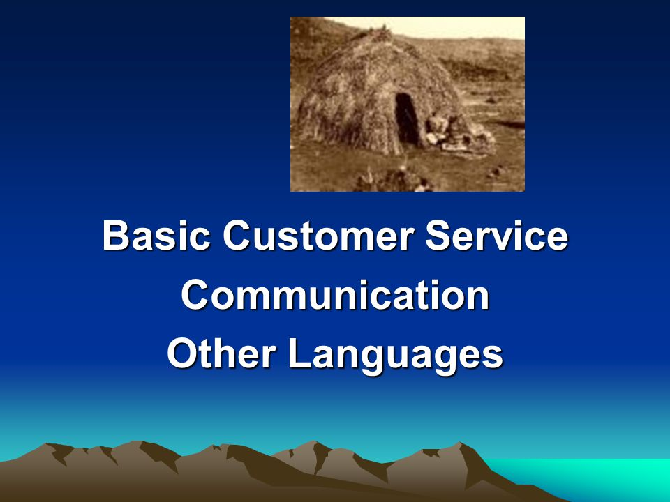 Basic Customer Service Communication Other Languages