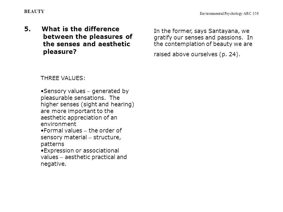 Environmental Psychology ARC 359 BEAUTY 5.