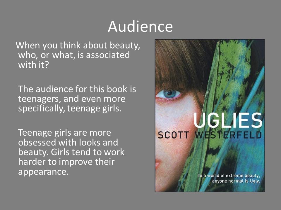 Audience When you think about beauty, who, or what, is associated with it.