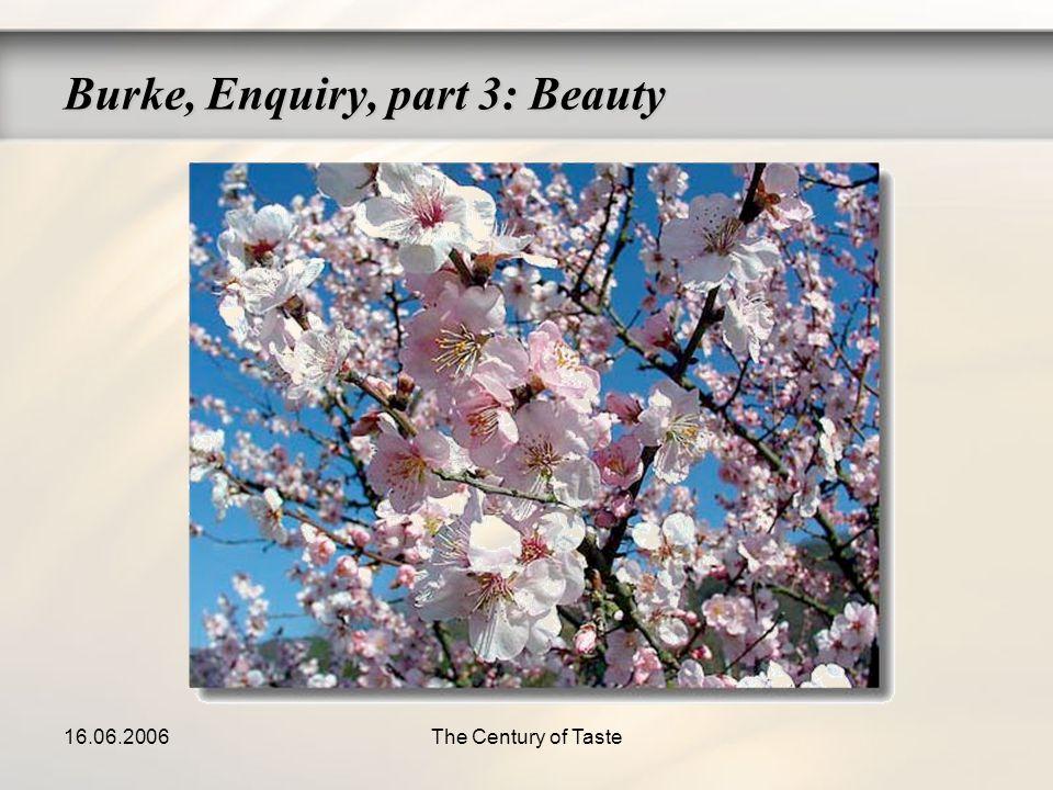 16.06.2006The Century of Taste Burke, Enquiry, part 3: Beauty