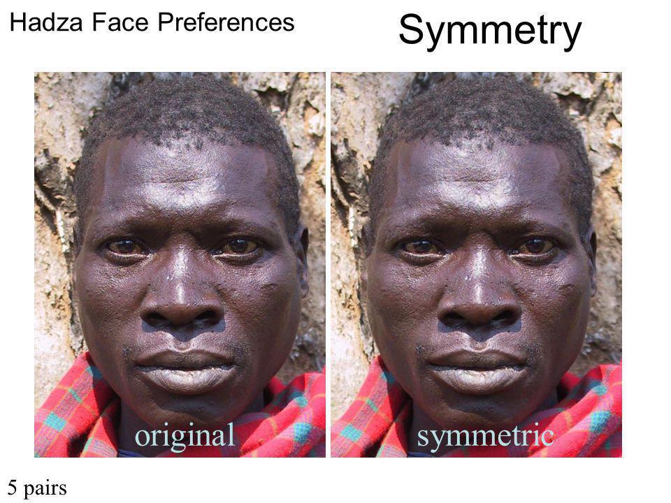 originalsymmetric Hadza Face Preferences Symmetry 5 pairs