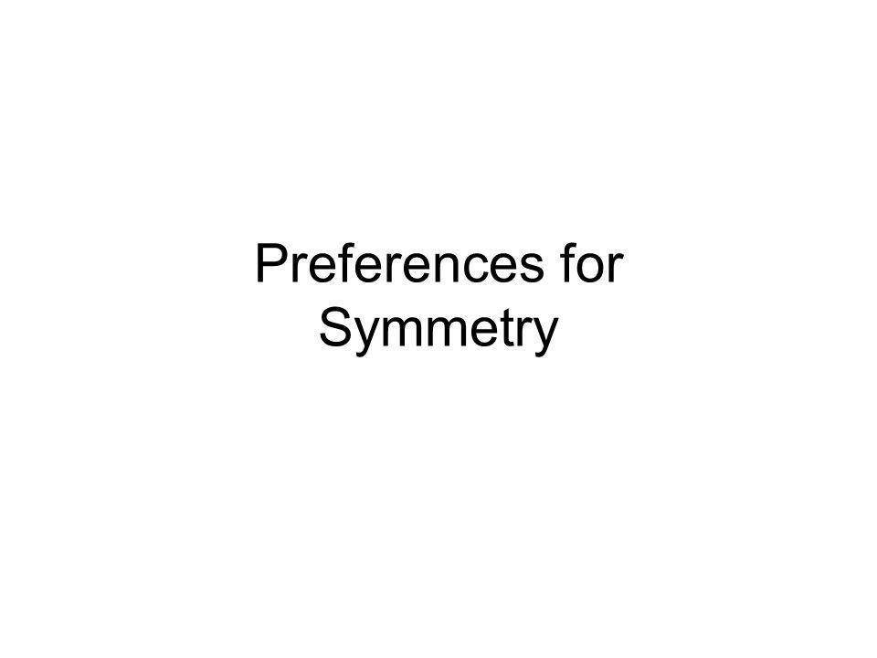 Preferences for Symmetry