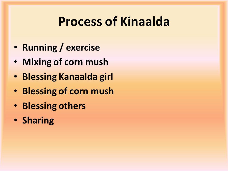 Process of Kinaalda & Teachings RunningMixing of corn mush