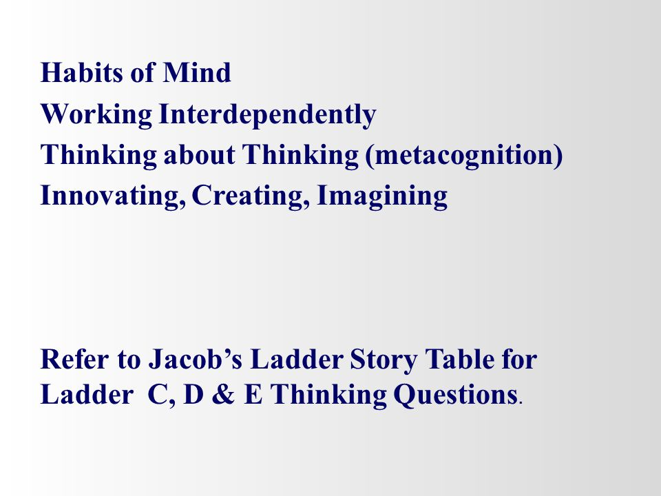 Tier 2 Rigor (Discussion) High Level Strategies with Ladder C, D & E Questions