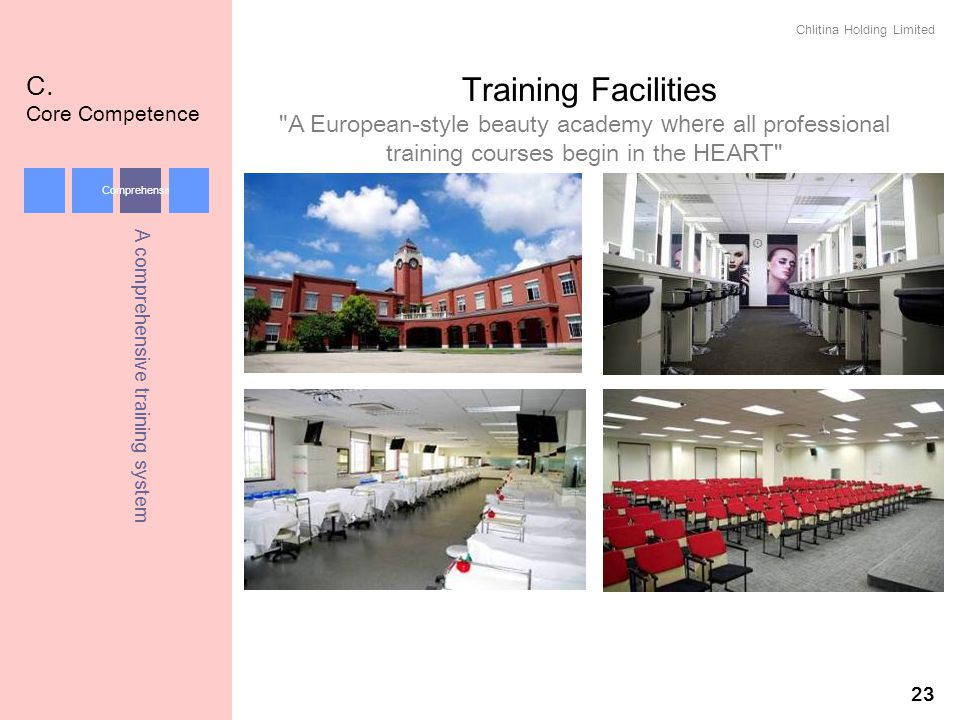 Chlitina Holding Limited 23 Training Facilities C. Core Competence