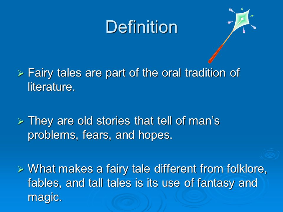 Generate Ideas Lets look at some fractured fairy tales present in advertisements, sitcoms, songs, and movies to get your brain in creative thinking mode.