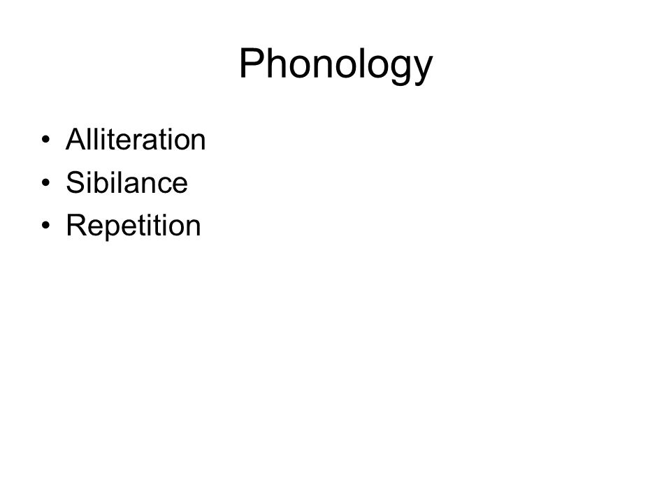 Phonology Alliteration Sibilance Repetition