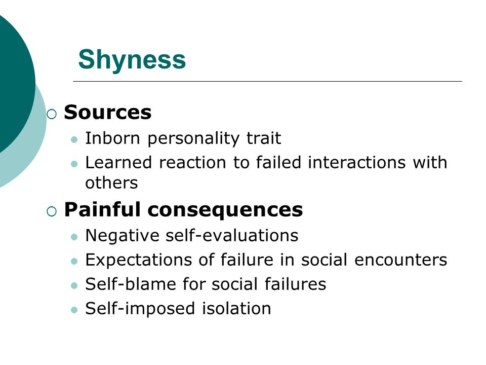 Shyness: A Pervasive Problem