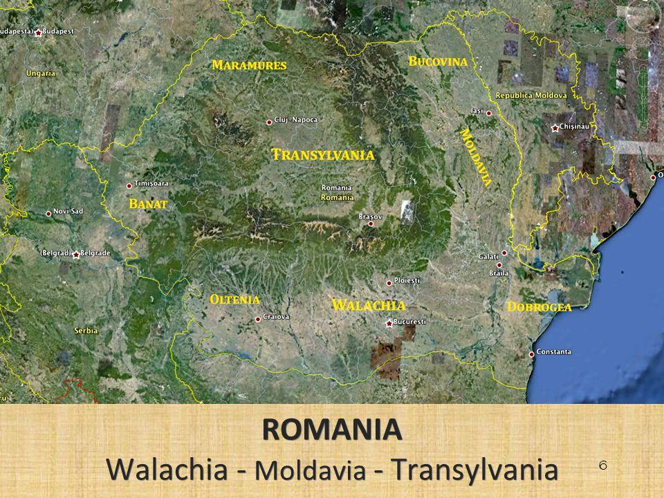 6 ROMANIA Walachia - Moldavia - Transylvania