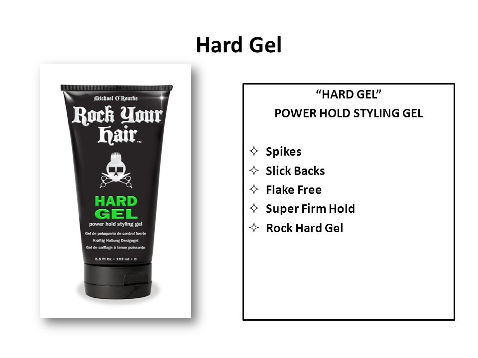 Hard Gel HARD GEL POWER HOLD STYLING GEL Spikes Slick Backs Flake Free Super Firm Hold Rock Hard Gel