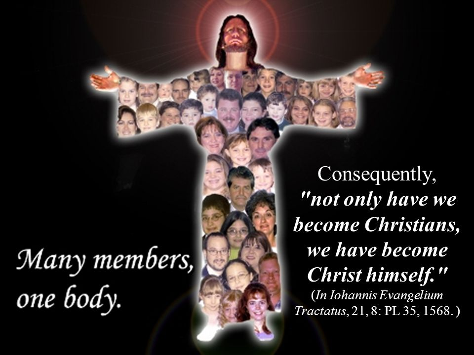 Consequently, not only have we become Christians, we have become Christ himself. (In Iohannis Evangelium Tractatus, 21, 8: PL 35, 1568.