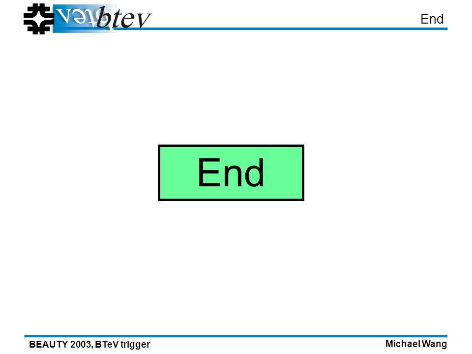 Michael Wang BEAUTY 2003, BTeV trigger End