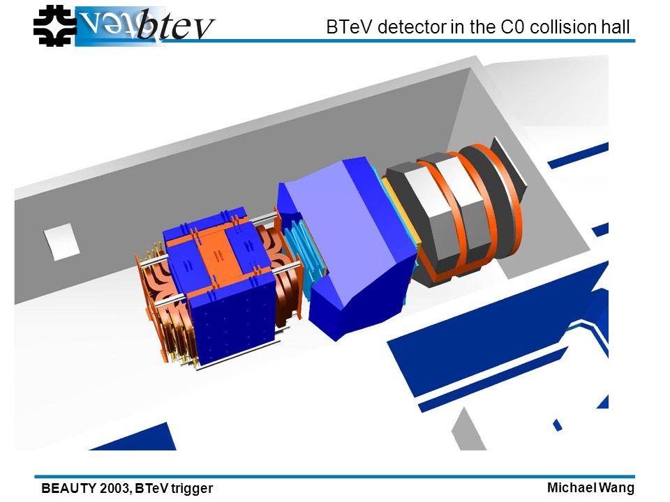 Michael Wang BEAUTY 2003, BTeV trigger BTeV detector in the C0 collision hall