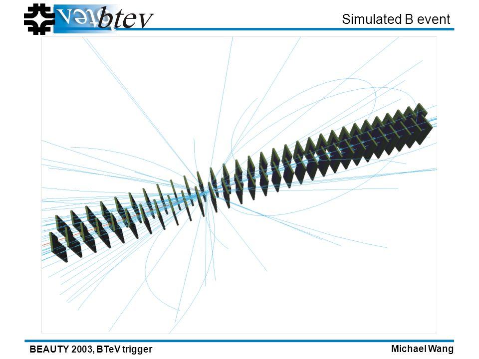 Michael Wang BEAUTY 2003, BTeV trigger Simulated B event