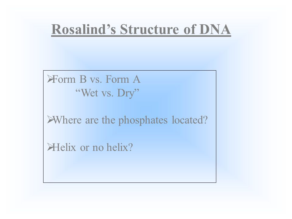 Rosalind Franklin Satisfaction doesnt come from knowing the solution. It comes from knowing why its the solution.