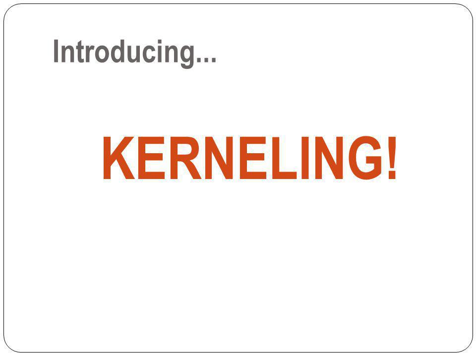 What is a kernel.Kernels are the MOST IMPORTANT words in your text evidence.