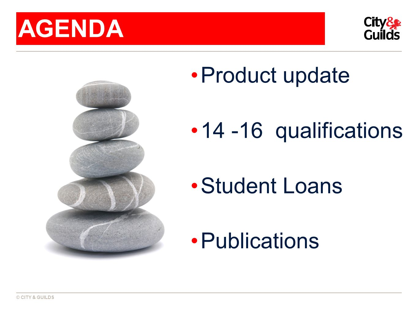 Product update 14 -16 qualifications Student Loans Publications AGENDA