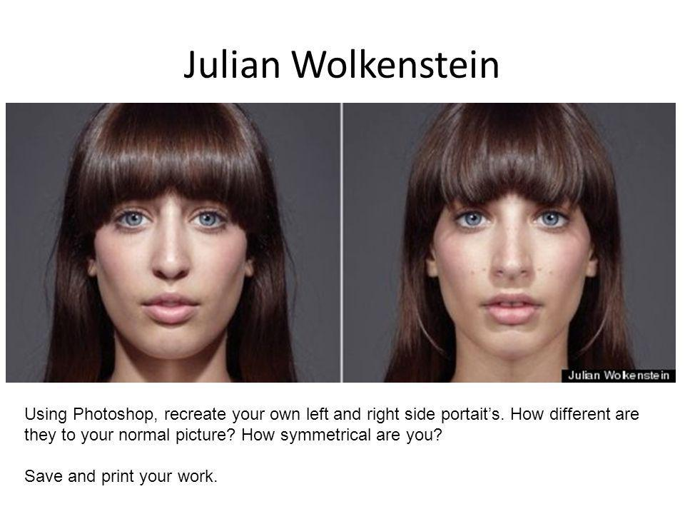 Julian Wolkenstein Using Photoshop, recreate your own left and right side portaits.