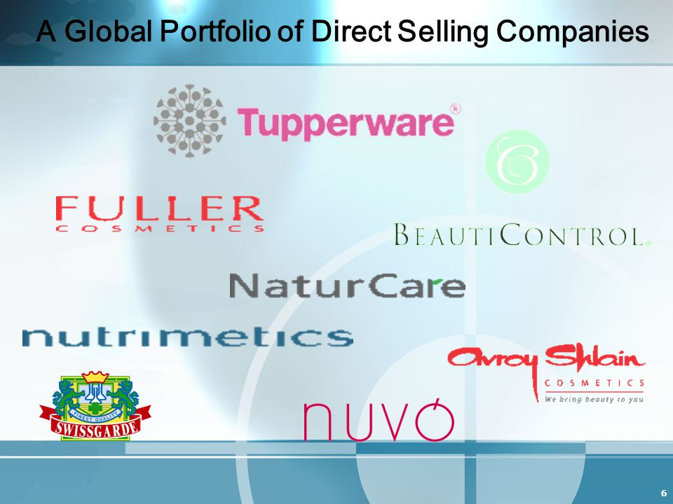6 A Global Portfolio of Direct Selling Companies