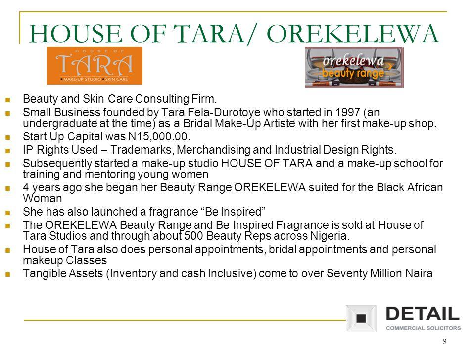 9 HOUSE OF TARA/ OREKELEWA Beauty and Skin Care Consulting Firm.