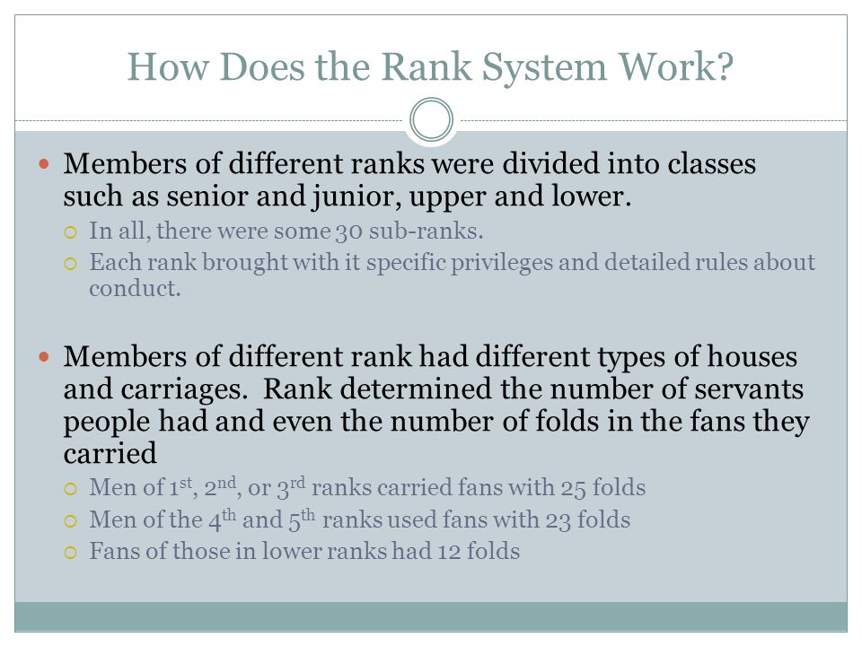How Does the Rank System Work.