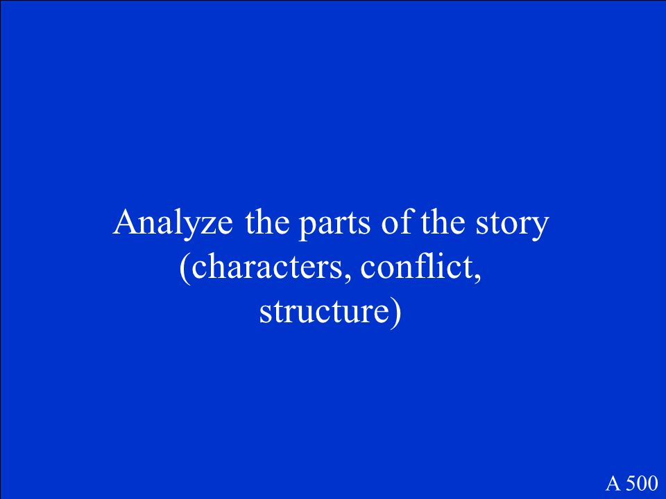 What is the best way to find the central idea of a story? A 500