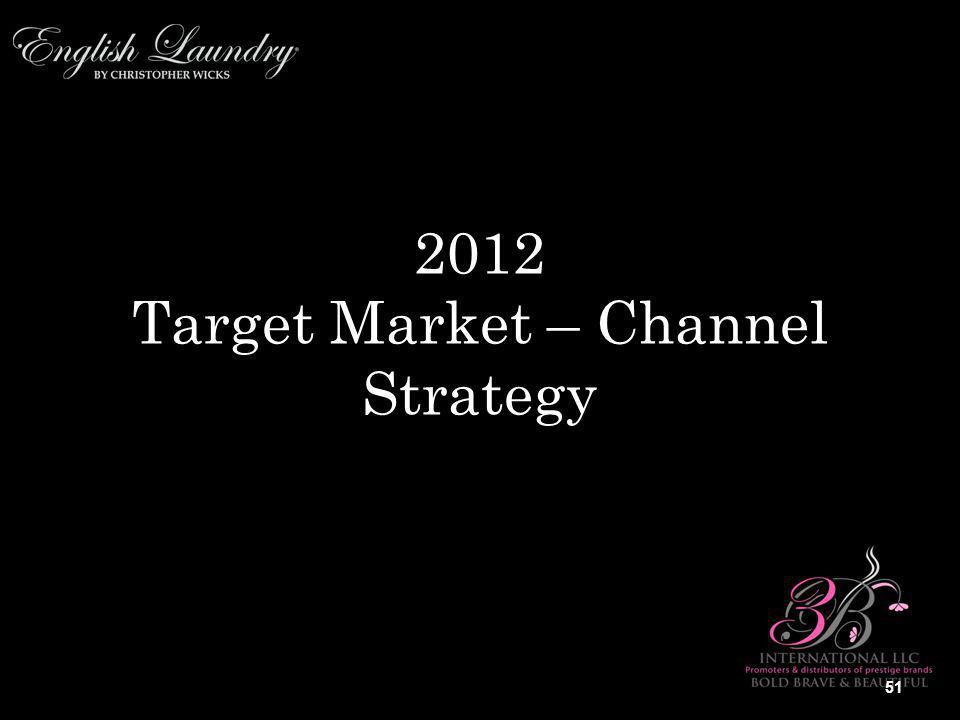 2012 Target Market – Channel Strategy 51