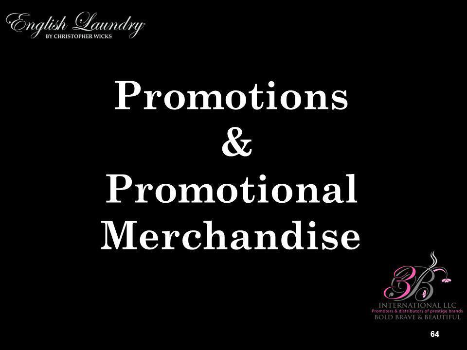 Promotions &PromotionalMerchandise 64