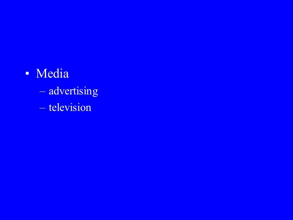 Media –advertising –television