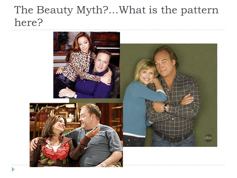 The Beauty Myth?...What is the pattern here?