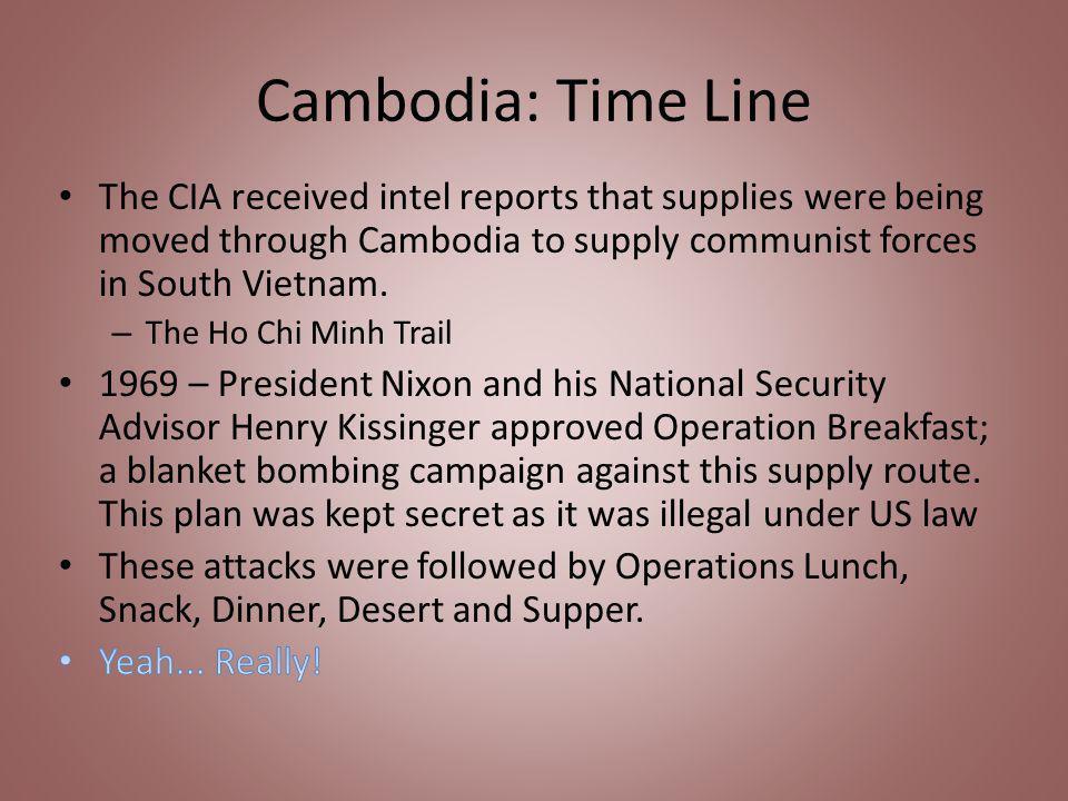 Cambodia: Time Line