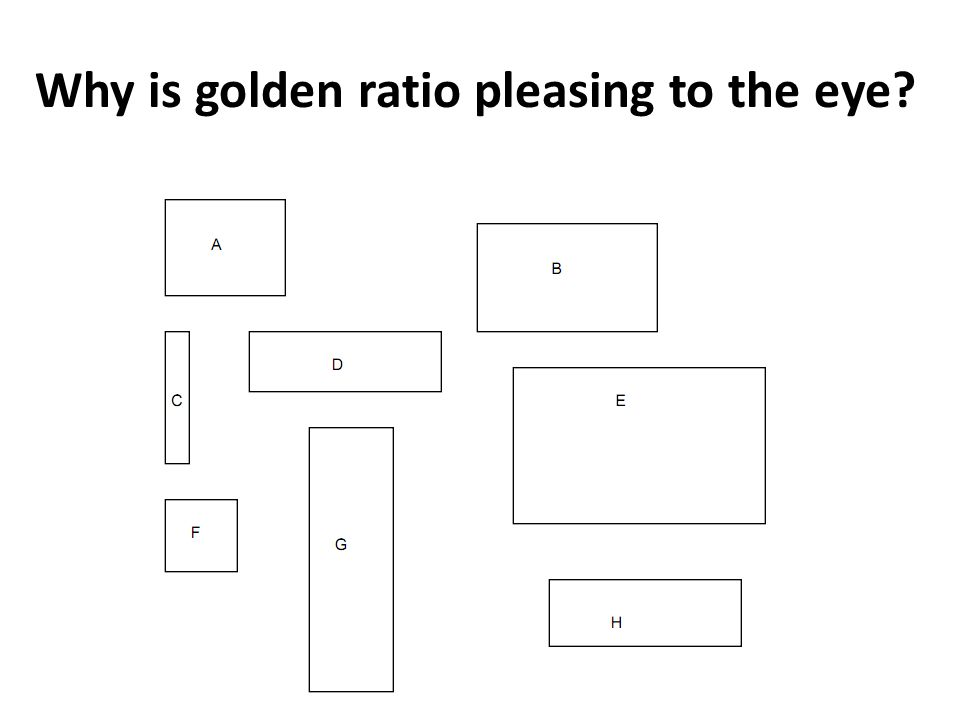 Why is golden ratio pleasing to the eye?