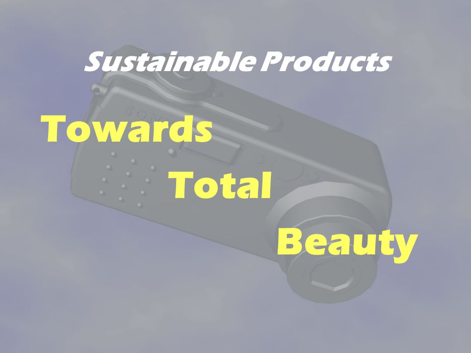 Sustainable Products Towards Total Beauty